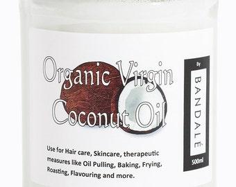 Pure Organic Coconut Oil 500ml/18fl oz