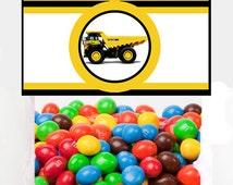 Construction 3 Inch Party Favor Toppers – Digital Download – Candy Bag Toppers - Construction Party