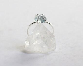 Deep moon / acute marine and Silver 925 ring