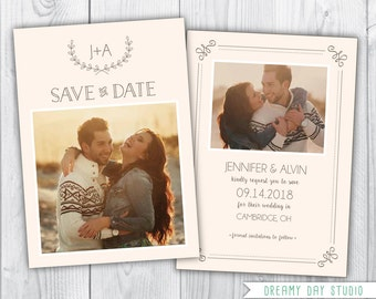 printable save the date / save the date template / simple save the date / save the date photoshop template / photo save the date template