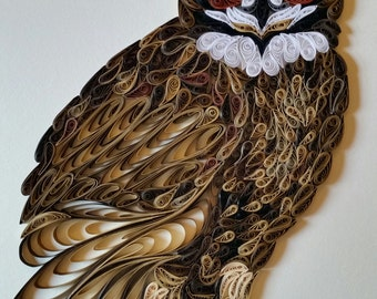 Quilled Great Horned Owl