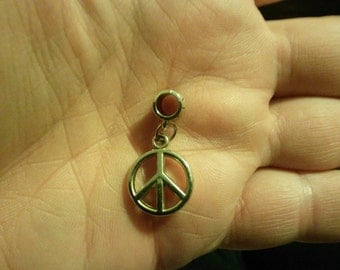 Peace Symbol,Peace Sign,Hippie,Love Sign,Charm Fits European Style Bracelets Like Chamilia ,Biagi ,Caprice ,Hallmark, Pandora