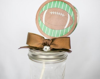 Football Whirly Pop. Party Favor. Lollipop. Green. Lime. Candy