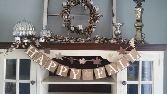 Happy Fall Banner, Happy Fall Sign, Fall Decor, Happy Fall Garland, Fall Sign, Welcome Fall Banner, Thanksgiving Decoration, Fall Banners,