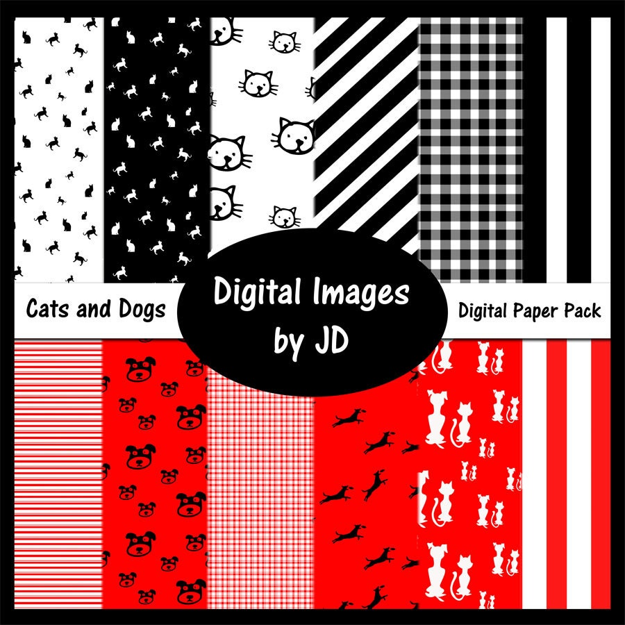 Scrapbook paper dogs - This Is A Digital File