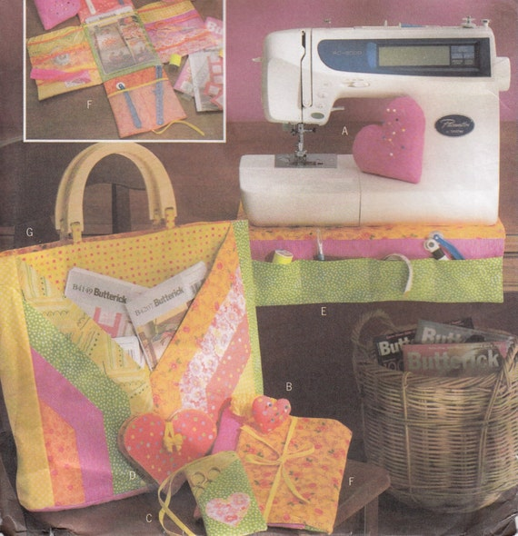 Butterick B4476 Fat Quarters Sewing Accessories Sewing Pattern Home Decor Sewing Pattern