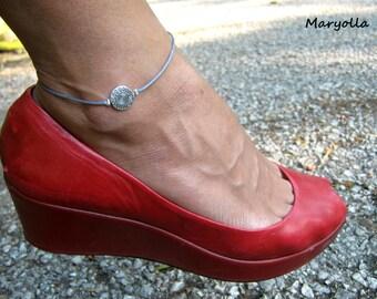 Tribal anklet, blue anklet, boho anklet, Tribal bead anklet, boho jewelry, bohemian anklet, charm anklet, handmade anklet, summer anklet