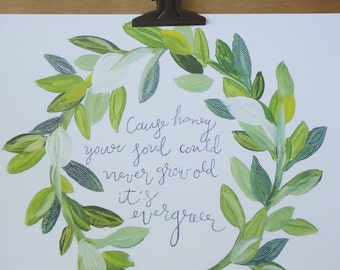 Laurel Leaf Quote Print 8X10