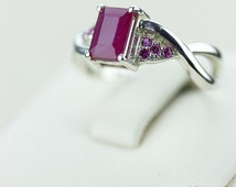 SIZE 7.5 AFRICAN RUBY (Nickel Free) 925 Fine S0LID Sterling Silver Ring & Free Worldwide Express Shipping r606