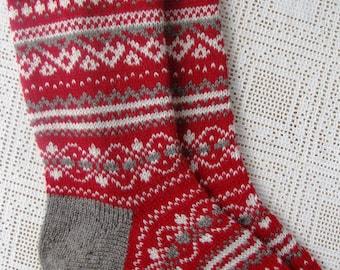 regalo di Natale Natale norvegese calze calzini lavorati a maglia maglia i calzini calze di lana. dono all'uomo. regalo per una donna. calzini da uomo. Calzini donna