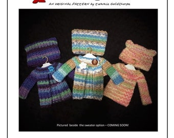Gabbie Cardigan and Kitty Ear Hat Knitting Pattern to fit  Bratz & Moxie Girlz INSTANT DOWNLOAD by Tiny New Faces™