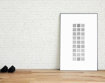 Alphabet II Art Print | The Grid Series