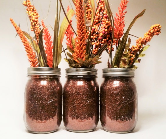 Fall mason jars wedding centerpiece thanksgiving
