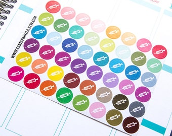 48 syringe sticker, doctor sticker, nurse sticker, planner stickers, vitamins reminder, hospital medical allergy appointment injector