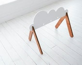 Free Shipping - Wooden Baby Gym - Cloud - Custom Colors Available