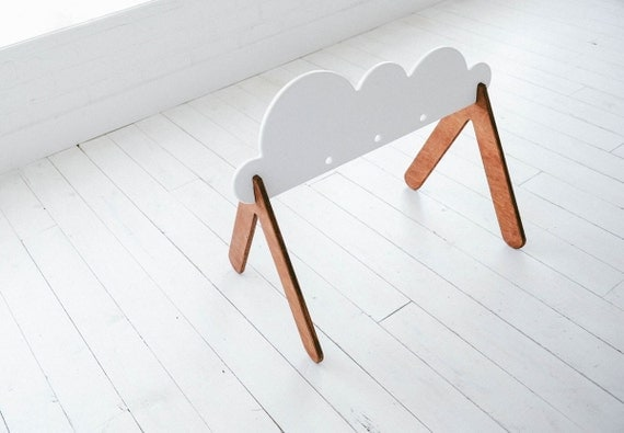 kostenloser versand holz baby gym cloud von whiteoakwoodworks. Black Bedroom Furniture Sets. Home Design Ideas