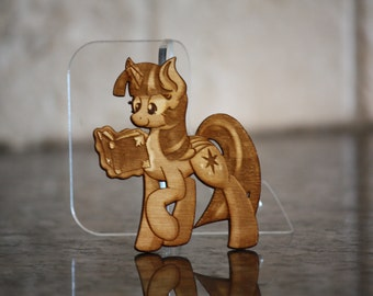 Mini Wood Laser Cut - NekoCrispy's Twilight Sparkle