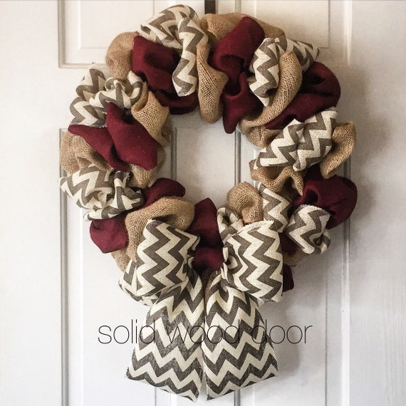 Texas A&M Burlap Wreath
