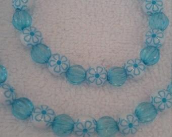Turquoise Beaded Jewelry Set   (#387)
