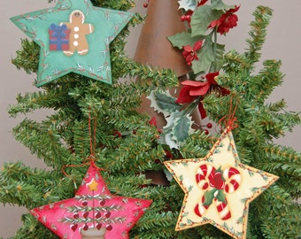 Painting E-Pattern Starry Ornaments Christmas Holiday Candy Cane Gingerbread Tree
