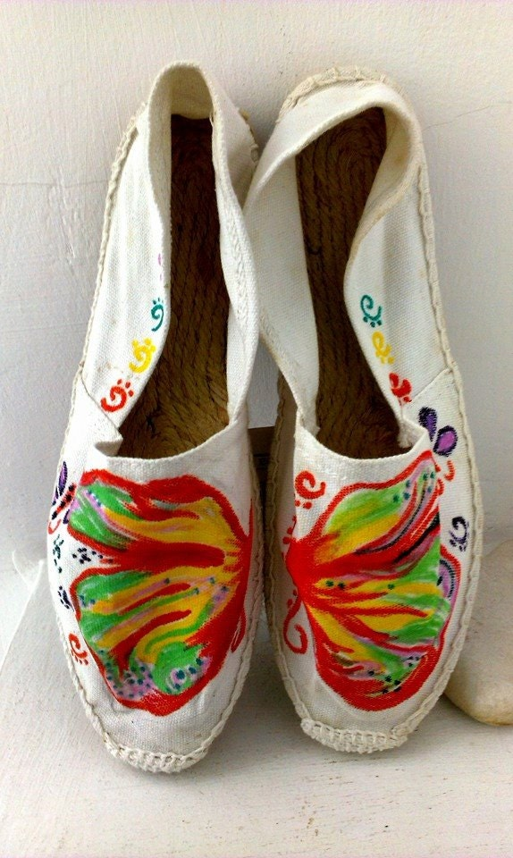 painted shoes butterfly shoes designer shoes