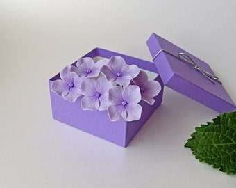 Purple-Lilac Hydrangea Hair Pins (set of 6), Wedding hair accessories, Bridal hair flowers, Bride flower pins, hydrangea clip - NOT FRAGILE!