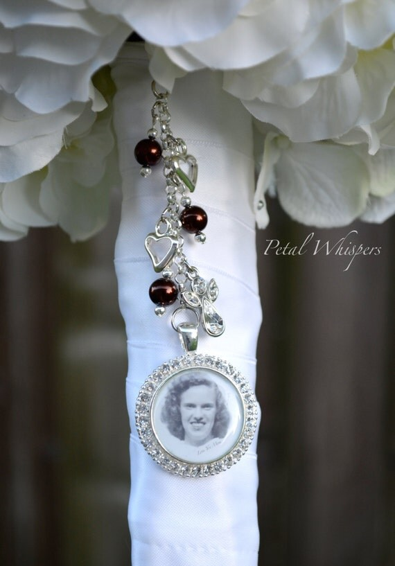 bouquet memorial charm bridal bouquet charm bouquet photo charm