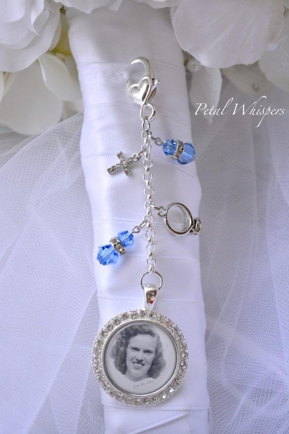 Blue Bridal Bouquet Charm : Something blue bouquet charm bridal photo