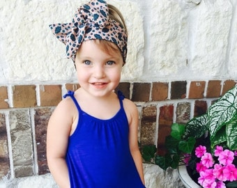 1950's inspired toddler headscarf bow