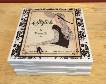 """Coasters """"Twenties Ladies"""""""