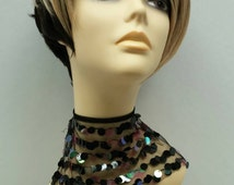 Short Styled Black with Blonde Color Wig with Premium Heat Resistant Fiber.