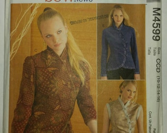 McCall's M4599 Sew News Pattern, Unlined Vest or Jacket.  Size 10-12-14-16
