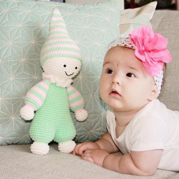 Amigurumi Toys For Babies : Crochet stuffed baby toy amigurumi plush baby toy