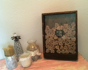 Wedding Guest Book Drop Box - Rustic Guest Book Alternative