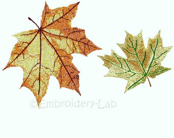 Maple leaves Set  - digital designs for embroidery machine