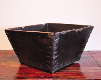 Antique Rustic Chinese Grain Measure, Chinese Container
