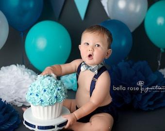 Baby boy first birthday outfit, boy cake smash outfit, baby boy suspenders and bow tie, first birthday boy outfits, little boy birthday