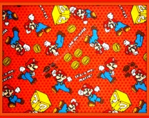 Mario Flannel Fabric by Springs Creative Products - By the Fat Quarter or Yard