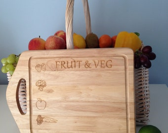 Fruit and Vegetables Chopping Board - Wooden