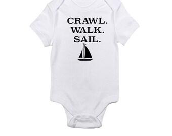 Crawl. Walk. Sail - Baby Onesie