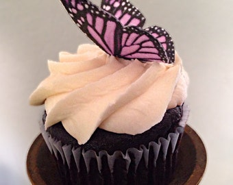 Double-Sided Edible 3-D Wafer Paper Medium Monarch Butterflies for Cakes, Cupcakes or Cookies