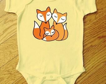 Fox Family Onesie or Toddler Tee