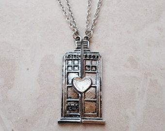 Doctor Who TARDIS is Love Necklace & Pendant //
