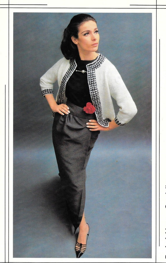 Vintage Knit Pattern Chanel Jacket Pattern 1970 Womens