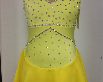 Yellow figure skating dress