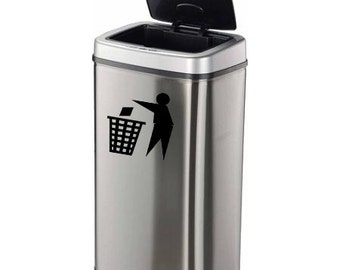 Trash Decal, Trash Stickers, Trash Can Decal, Trash Can Stickers, Throw Trash Away, Recycle, Recycling