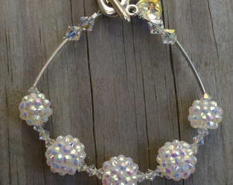 Disco Ball Bracelet, Crystal Ball Bracelet, Crystal Bracelet