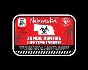 Nebraska car decal etsy for Nebraska fishing license
