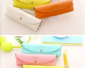 Pencil Case Size Pouch - Macaroon Colored (PVC)   Soft Casing   Kawaii Stationery