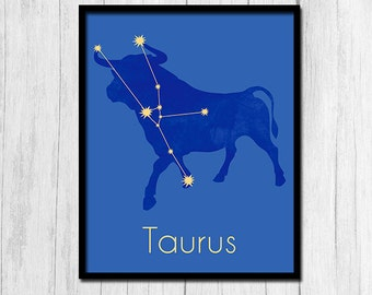 Taurus Print Taurus Zodiac Astrological Sign Poster Zodiac Sign Digital Download Horoscope Print Astrological Sign Print Taurus Prints